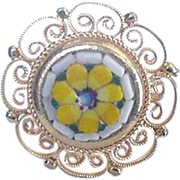 Yellow mosaic Floral Ring