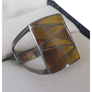 Sterling Silver Tiger's Eye Ring