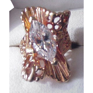 Big Rhinestone Ruffle Ring