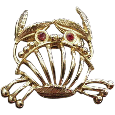 Gold Color Crab Pin