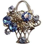 Blue Basket Pin