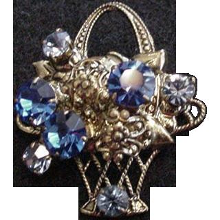 Blue Basket Pin
