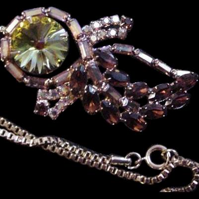 Fiery Rhinestone Necklace