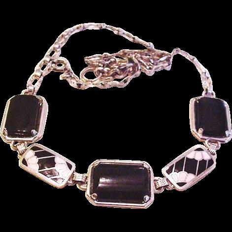 Art Deco Enameled Necklace