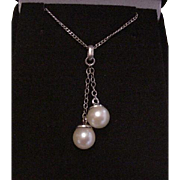 Sterling Silver and Cultured Pearls Necklace
