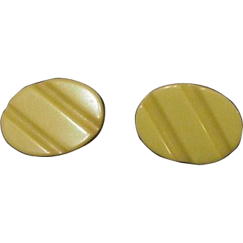 Yellow Bakelite Earrings