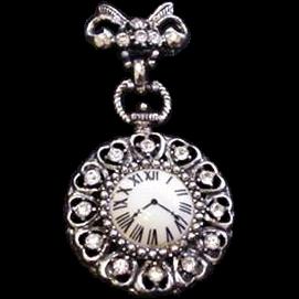 Rhinestone Watch Pin