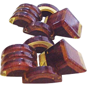 Art Deco Strong Architectural Bakelite Dress Clips