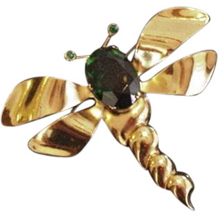 Big Retro Modern Dragonfly Pin