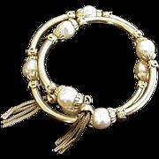 Gold Color Tassel Wrap Bracelet