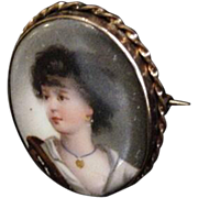 Antique Portrait Pin