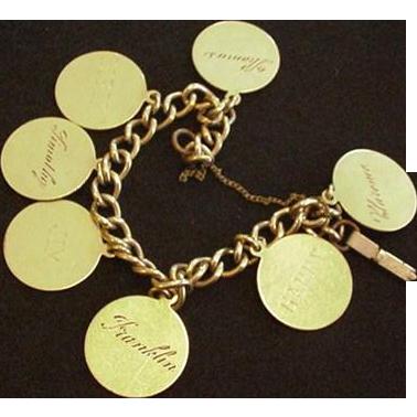 Vintage Family Charm Bracelet