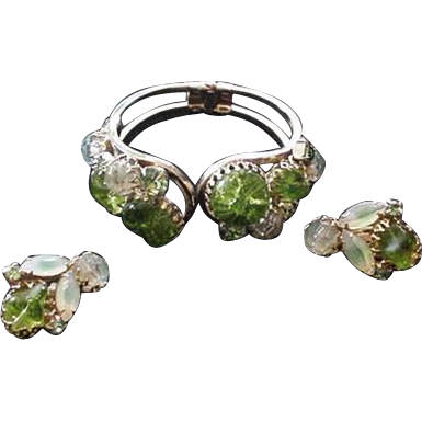 Juliana Shades of Green Bracelet and Earrings