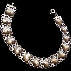 Sterling Silver Hearts Bracelet