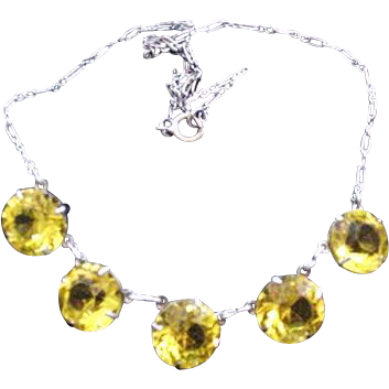 Headlight Crystals Necklace