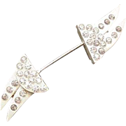 Celluloid and Rhinestone Pin