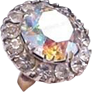 Vintage Rhinestone Cocktail Ring