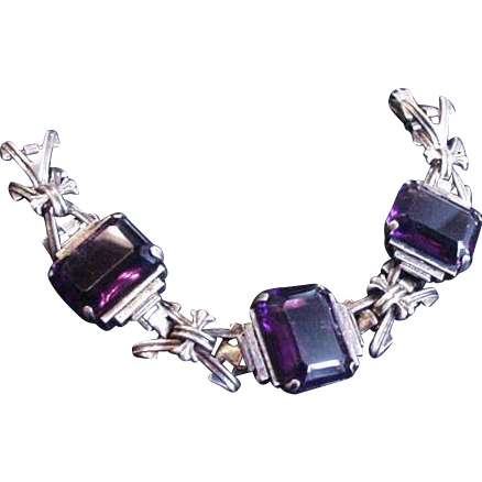 Superb Purple Glass Bracelet