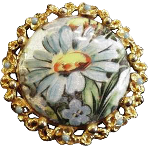 Art  Enameled Pin