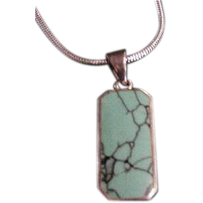Sterling Silver and Spider's Web Turquoise Pendant