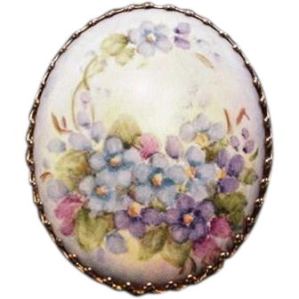 Painted Porcelain Pin