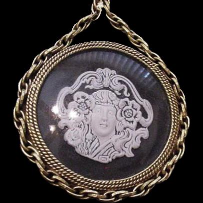 Figural Revival Medallion Necklace