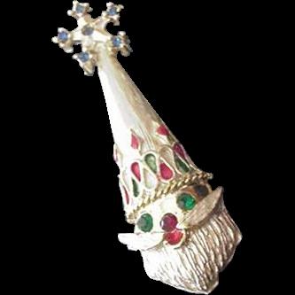 Santa Christmas Pin