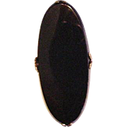 Old Black Celluloid Ring