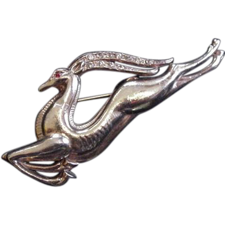 Vintage Leaping Gazelle Pin