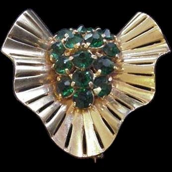 Retro Modern Rhinestone Pin
