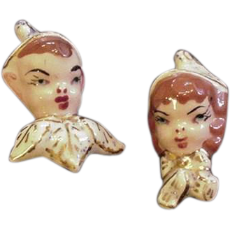 Pair of Ceramic Pixie Pins