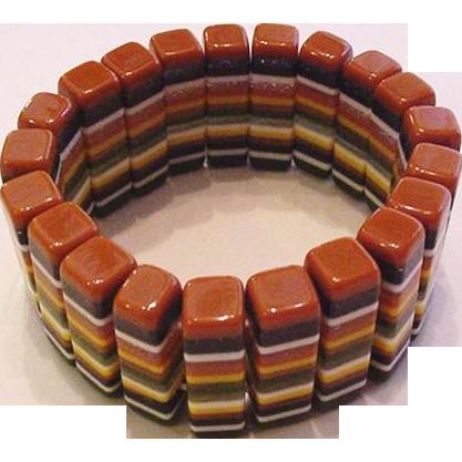 Carved Laminated Lucite Bracelet