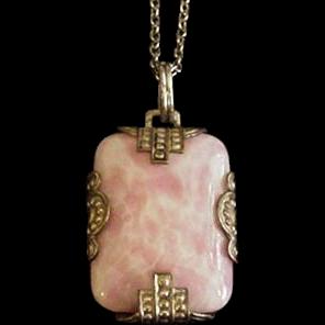 Art Deco Pink Necklace