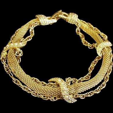 Goldette Victorian Revival Bracelet
