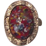 Vintage Millefiori Fashion Ring