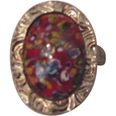 Vintage Millefiori Fashion Ring