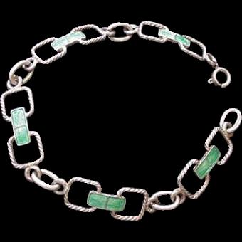Enameled Silver Bracelet