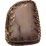 Calibre Set Agate Ring