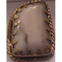 Calibre Set Agate Ring