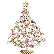 Icy Pastel Christmas Tree Pin