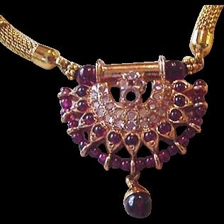 Mogul Style Garnet Necklace