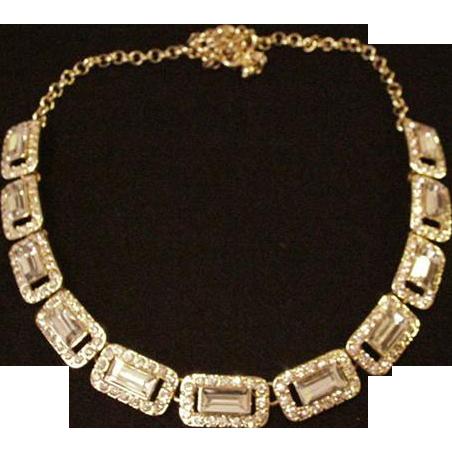 Icy Rhinestone Necklace