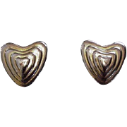 Escada Vintage Heart Earrings