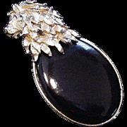 Lion on Black Oval Pin