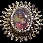 Portrait Under Glass Pin