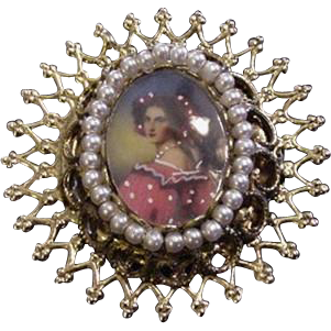 Portrait Under Glass Pin