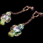 Vintage Murano Glass Halo Bead Earrings
