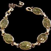 Gold Filled Jade Bracelet