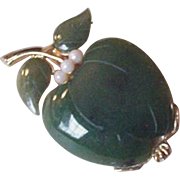 Jade Apple Pin