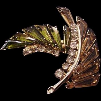 Asymmetrical Rhinestone Pin